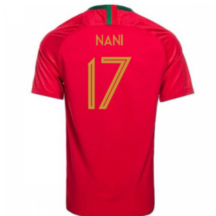 2018-2019 Portugal Home Nike Football Shirt (Nani 17) - Kids