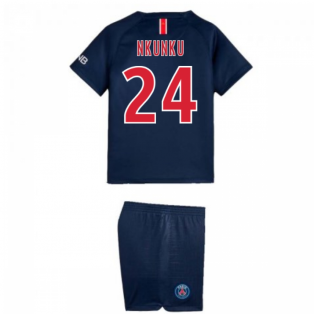 2018-2019 PSG Home Nike Little Boys Mini Kit (Nkunku 24)