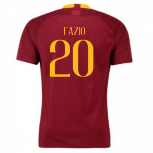 2018-2019 Roma Authentic Vapor Match Home Nike Shirt (Fazio 20)
