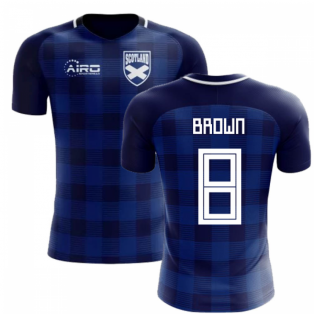 2018-2019 Scotland Tartan Concept Football Shirt (Brown 8)