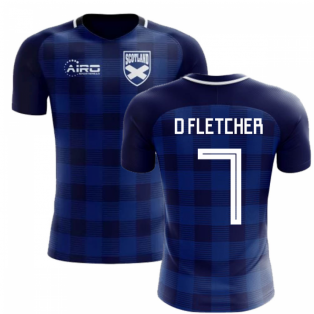 2018-2019 Scotland Tartan Concept Football Shirt (D Fletcher 7)