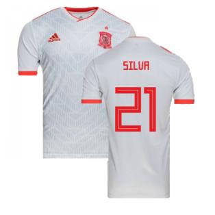 2018-2019 Spain Away Adidas Football Shirt (Silva 21) - Kids