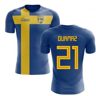 2018-2019 Sweden Flag Concept Football Shirt (Durmaz 21) - Kids