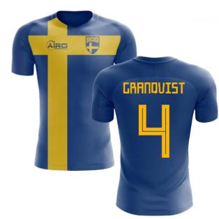 2018-2019 Sweden Flag Concept Football Shirt (Granqvist 4) - Kids