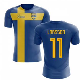 2020-2021 Sweden Flag Concept Football Shirt (Larsson 11)