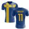 2020-2021 Sweden Flag Concept Football Shirt (Larsson 11)
