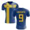 2018-2019 Sweden Flag Concept Football Shirt (Ljungberg 9)