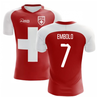2020-2021 Switzerland Flag Concept Football Shirt (Embolo 7)