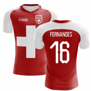 2018-2019 Switzerland Flag Concept Football Shirt (Fernandes 16)