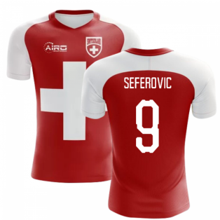 2018-2019 Switzerland Flag Concept Football Shirt (Seferovic 9)