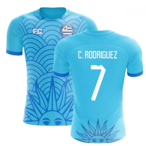 2018-2019 Uruguay Fans Culture Concept Home Shirt (C. Rodriguez 7)
