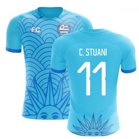 2018-2019 Uruguay Fans Culture Concept Home Shirt (C. Stuani 11) - Womens