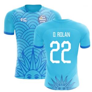 2018-2019 Uruguay Fans Culture Concept Home Shirt (D. Rolan 22) - Baby