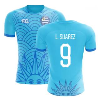 98c25b518 2018-2019 Uruguay Fans Culture Concept Home Shirt (L. Suarez 9)