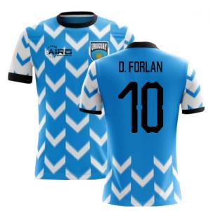 2018-2019 Uruguay Home Concept Football Shirt (D. Forlan 10)