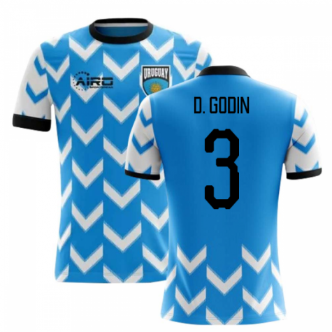 2018-2019 Uruguay Home Concept Football Shirt (D. Godin 3)