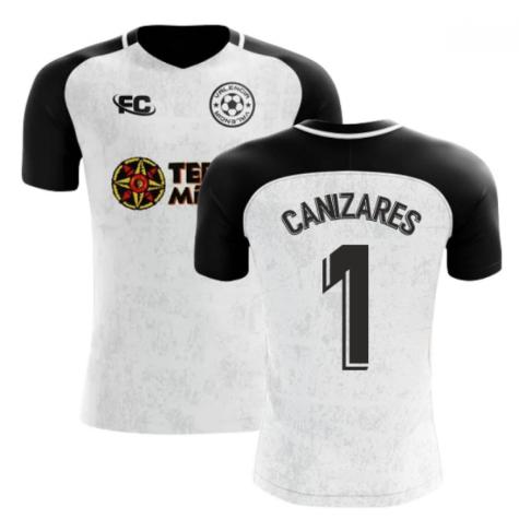 2018-2019 Valencia Fans Culture Home Concept Shirt (CANIZARES 1) - Womens