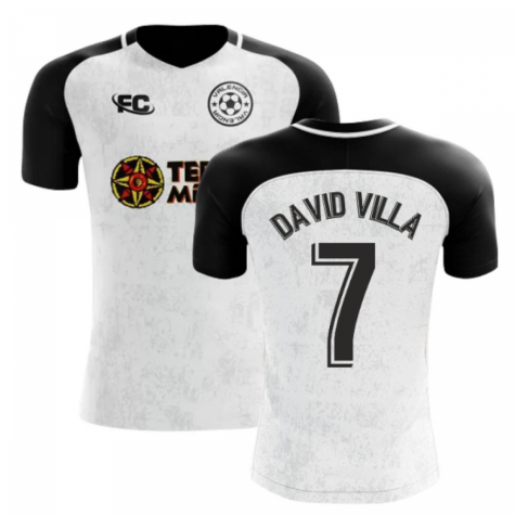 2018-2019 Valencia Fans Culture Home Concept Shirt (David Villa 7)