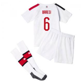2019-20 AC Milan Away Mini Kit (BARESI 6)
