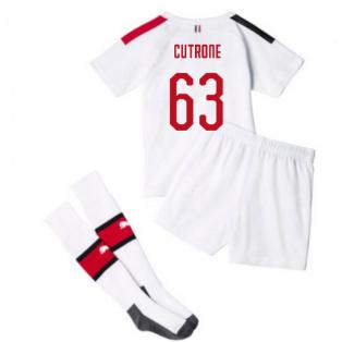 2019-20 AC Milan Away Mini Kit (CUTRONE 63)