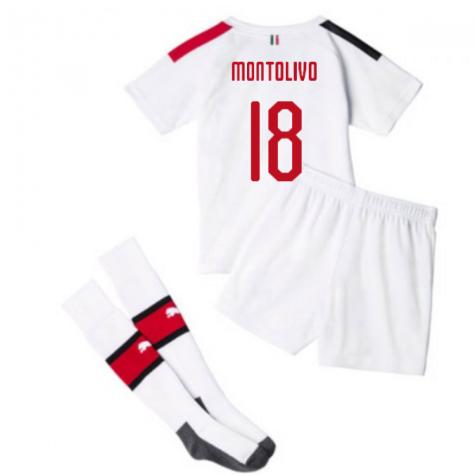 2019-20 AC Milan Away Mini Kit (MONTOLIVO 18)