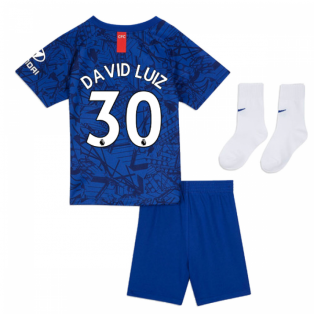 2019-20 Chelsea Home Baby Kit (David Luiz 30)