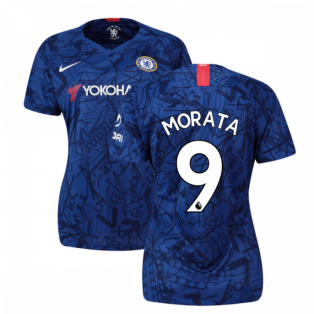 2019-20 Chelsea Home Ladies Shirt (Morata 9)