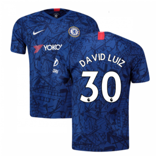 2019-20 Chelsea Home Vapor Match Shirt (David Luiz 30)