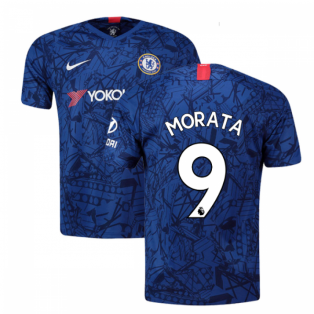 2019-20 Chelsea Home Vapor Match Shirt (Morata 9)
