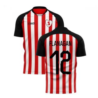2020-2021 Sunderland Home Concept Football Shirt (Flanagan 12)
