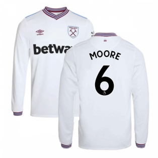 2019-20 West Ham Away Long Sleeve Shirt (MOORE 6)