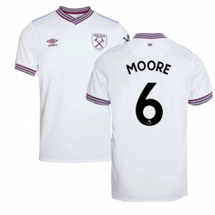 2019-20 West Ham Away Shirt - Kids (MOORE 6)