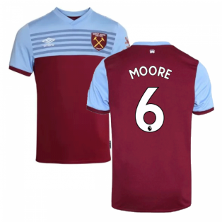 2019-20 West Ham Home Shirt - Kids (MOORE 6)