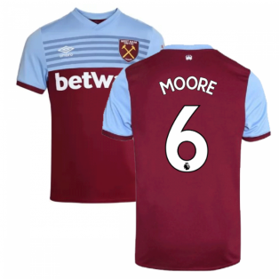 2019-20 West Ham Home Shirt (MOORE 6)