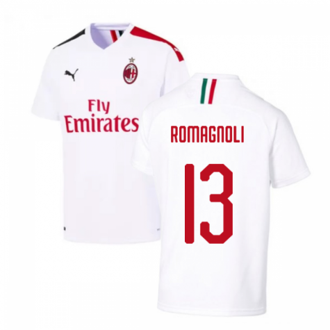2019-2020 AC Milan Away Shirt (ROMAGNOLI 13)