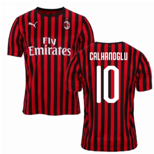 2019-2020 AC Milan Puma Authentic Home Football Shirt (CALHANOGLU 10)