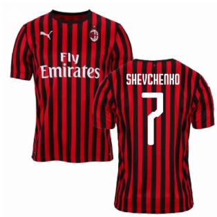 2019-2020 AC Milan Puma Authentic Home Football Shirt (SHEVCHENKO 7)