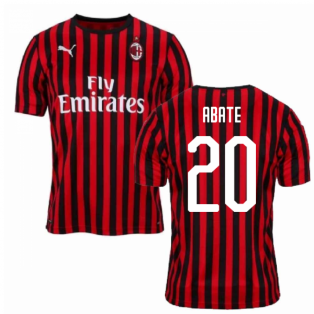 2019-2020 AC Milan Puma Home Football Shirt (ABATE 20)