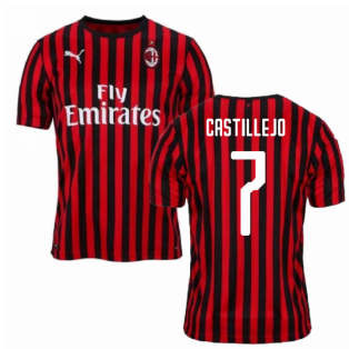 2019-2020 AC Milan Puma Home Football Shirt (CASTILLEJO 7)
