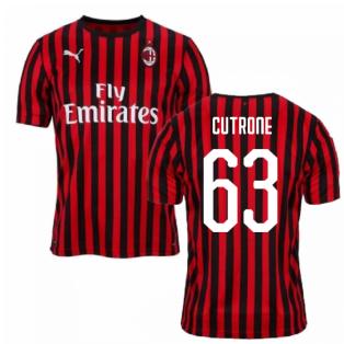 2019-2020 AC Milan Puma Home Football Shirt (CUTRONE 63)