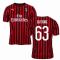 2019-2020 AC Milan Puma Home Football Shirt (CUTRONE 63)