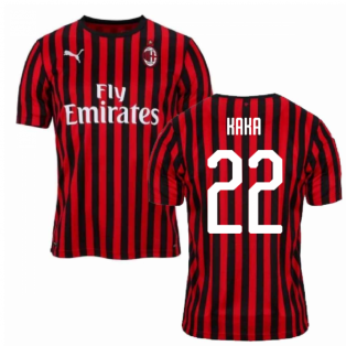 7a0a6647f 2019-2020 AC Milan Puma Home Football Shirt (KAKA 22)