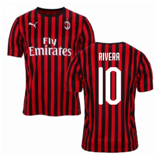 2019-2020 AC Milan Puma Home Football Shirt (RIVERA 10)