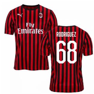 2019-2020 AC Milan Puma Home Football Shirt (RODRIGUEZ 68)