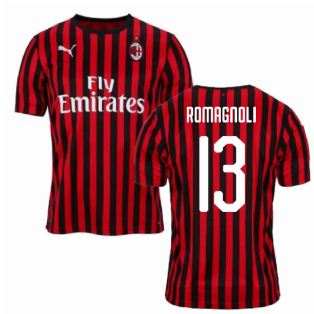 2019-2020 AC Milan Puma Home Football Shirt (ROMAGNOLI 13)