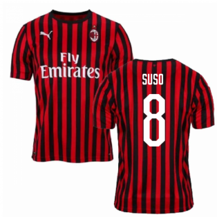 2019-2020 AC Milan Puma Home Football Shirt (SUSO 8)