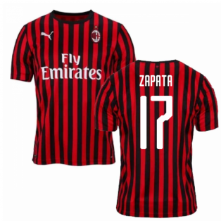2019-2020 AC Milan Puma Home Football Shirt (ZAPATA 17)