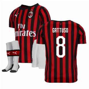 2019-2020 AC Milan Puma Home Mini Kit (GATTUSO 8)