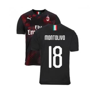 2019-2020 AC Milan Puma Third Football Shirt (MONTOLIVO 18)