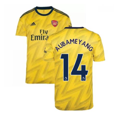 2019-2020 Arsenal Adidas Away Football Shirt (AUBAMEYANG 14)